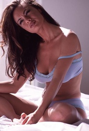sensual brunette with big