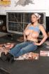 massive tits brunette bandanna