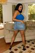black chick denim shorts