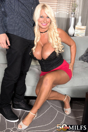 massive tits blonde with