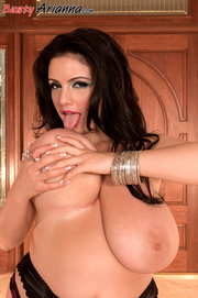stockings-clad brunette pink high