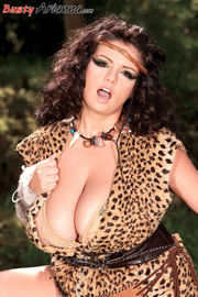 leopard get-up brunette jungle