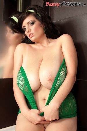 See-through green outfit brunette mastur - XXX Dessert - Picture 8