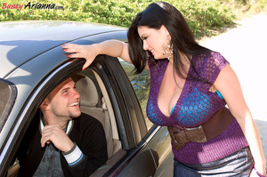 Denim skirt brunette hitching a ride and - XXX Dessert - Picture 3