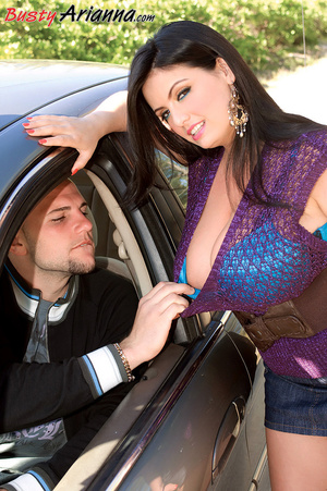 Denim skirt brunette hitching a ride and - XXX Dessert - Picture 4
