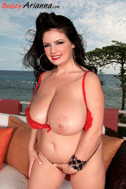 revealing bikini brunette bbw