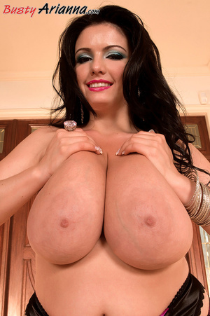 Stockings-clad brunette gets her massive - XXX Dessert - Picture 13