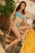 tanned brunettes bikini make