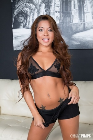 See-through bra Asian brunette smashed b - XXX Dessert - Picture 1