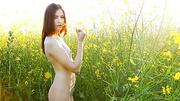 brunette teen teasingly posing