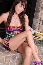 teen brunette rainbow-y leopard