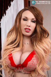 red bikini and flesh-colored
