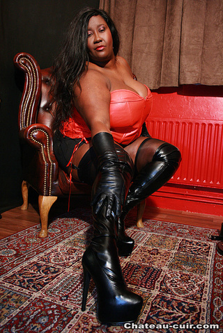 ebony bbw leather lingerie