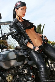 Tall biker girl leather 2 years ago 15 pics YOUX