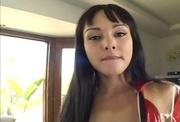 pierced belly brunette black