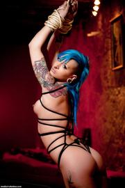 kinky girl gets tied