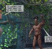 Mayan tribe tries to capture white people.Maya Adventure By Feather