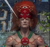 Busty Mayan goddess talking some prophecy mumbo-jumbo.Maya Adventure By