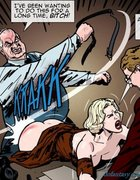 Blonde in stockings whipped by a fat crime lord.Prison Horror Story 7