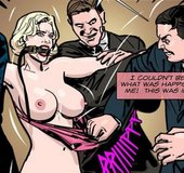 Busty blonde in stockings gagged and tortured.Prison Horror Story 7 By