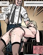 Stockings-clad blonde gets tied to a chair.Prison Horror Story 7 By Predondo