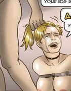 Blonde tied with rope and peed on by a guy.Slave Fair Year Three By Erenisch