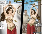 topless belly dancer forced