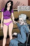 Pink panties brunette talking to an old lady.The Hotties Next Door 7 ByPredondo
