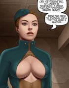 Busty space stewardesses discussing their plans.The Proto Part 1 By Ferres