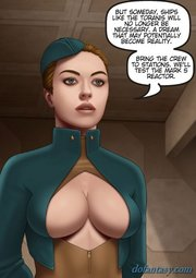 busty space stewardesses discussing