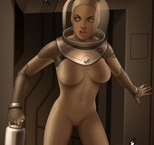 Busty space adventurer in a skintight bodysuit.The Proto Part 1 By Ferres