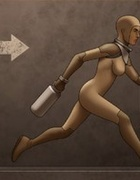 Skintight spacesuit hottie continues her rescue mission.The Proto Part