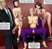 Purple pants blonde gets fucked by a big dildo.Total Control 3 By Fernando