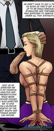 blonde slave enjoying nipple