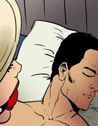 Leather-clad blonde sex slave endures a violent DP.Total Control 3 By