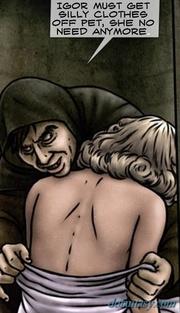 unconscious blonde getting undressed