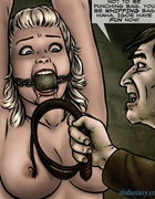 Ballgagged blonde tortured by a little gothic mutant.Creepy By Slasher