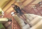 high heeled brunette sexy
