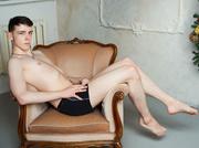 white young man playfulrick