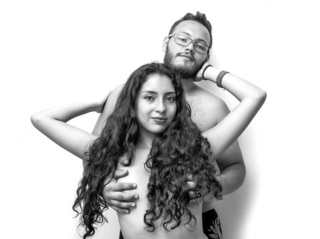 latin couple violetsandfranko dancing