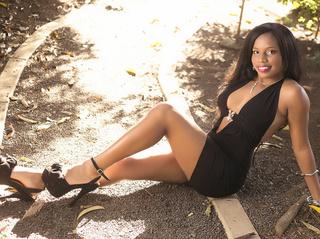 ebony girl black hair