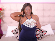 ebony girl with black