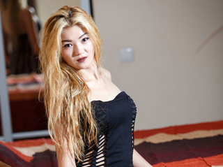 asian girl blonde hair