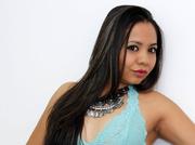 latin girl with black