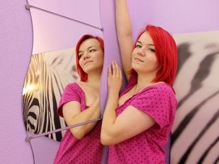 white teen pink hair