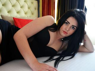 white girl black hair