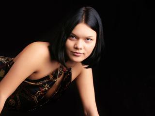 asian girl black hair
