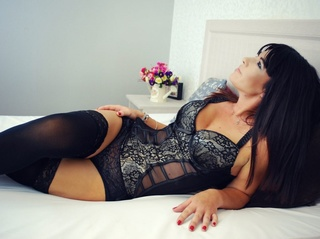 white milf black hair