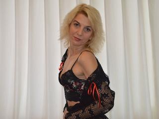 white mature blonde hair