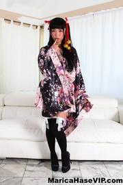 traditional japanese get-up brunette